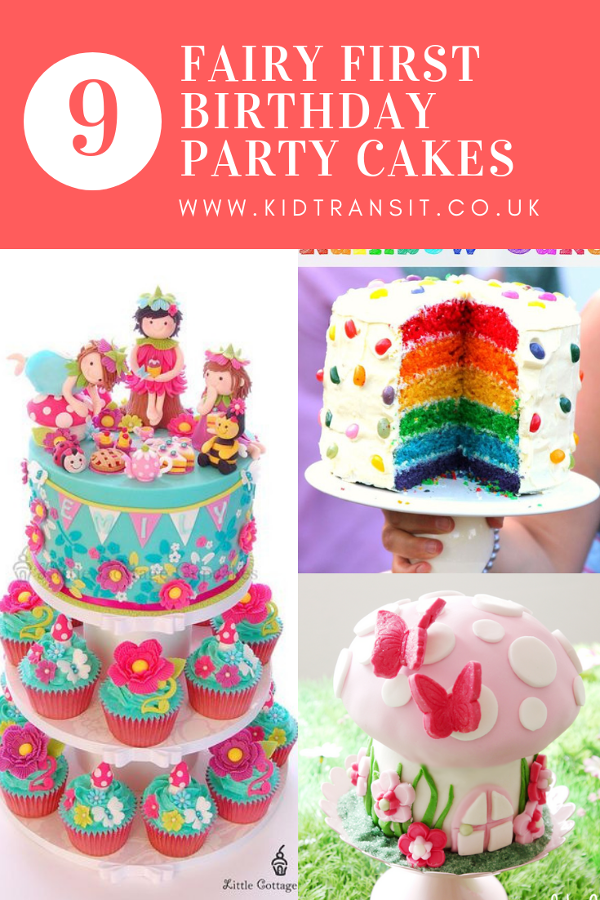9 perfect fairy cakes for your child's first birthday party. #fairyparty #fairycake #birthdaycake #firstbirthday