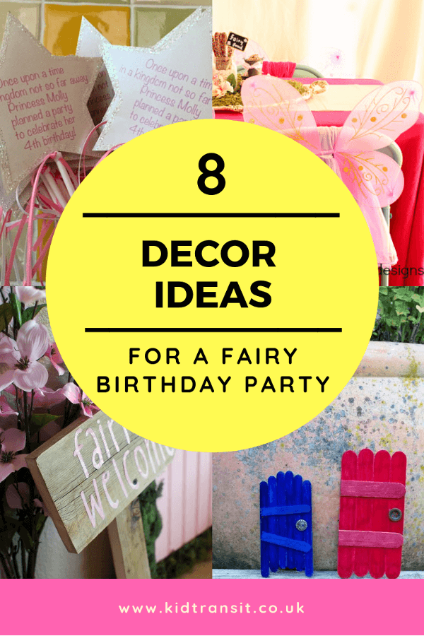 Fairy birthday party decor ideas for a first birthday party