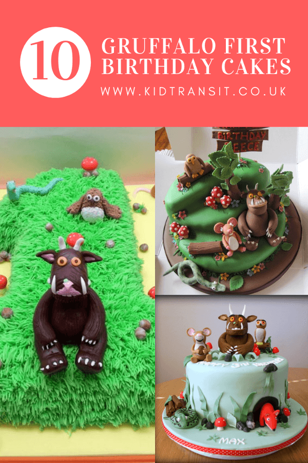 10 Gruffalo birthday cakes for a first birthday party. #firstbirthday #birthdaycake #gruffaloparty