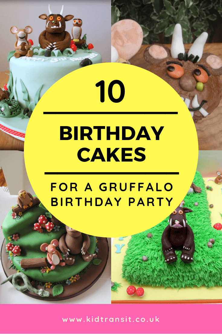 10 birthday cakes for a Gruffalo theme first birthday party