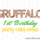Gruffalo Themed First Birthday Party Cake