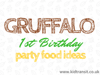 Gruffalo Themed First Birthday Party Food and Drinks