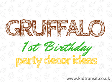 Gruffalo Themed First Birthday Party Decor