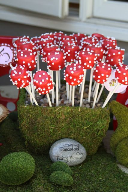 Fairy Theme Party First Birthday Marshmallow Toadstools
