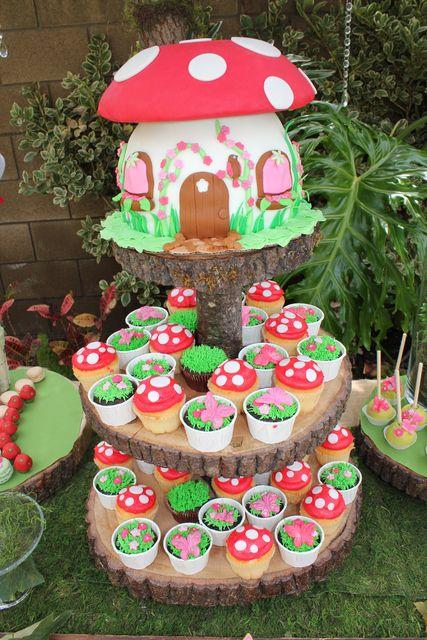 Fairy Theme First Birthday Party Cake