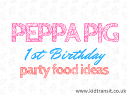 Peppa Pig First Birthday Party Food and Drink