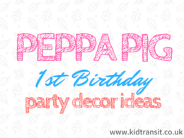 Peppa Pig First Birthday Party Decor