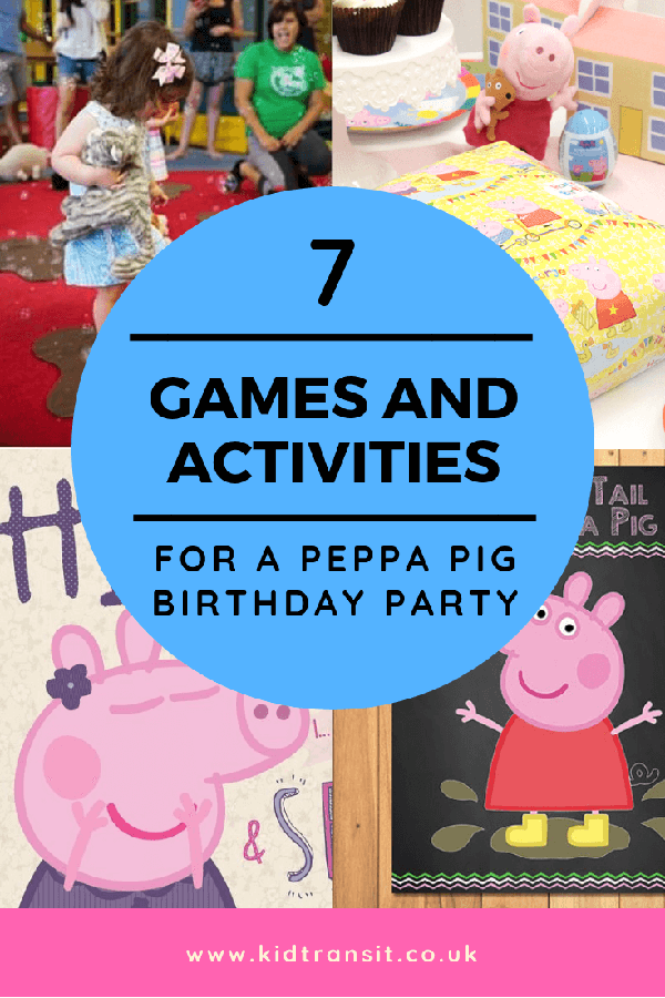 7 Peppa Pig theme party games and activities to play at your child's first birthday party