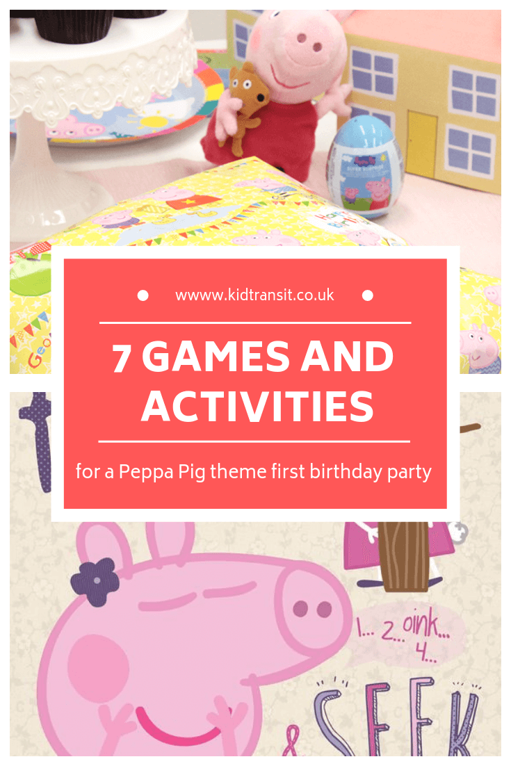 7 birthday party games and activities for a Peppa Pig theme first birthday party