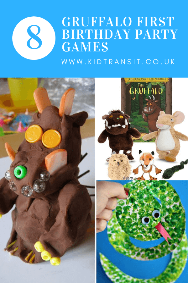 8 Gruffalo party games and activities for a first birthday party.