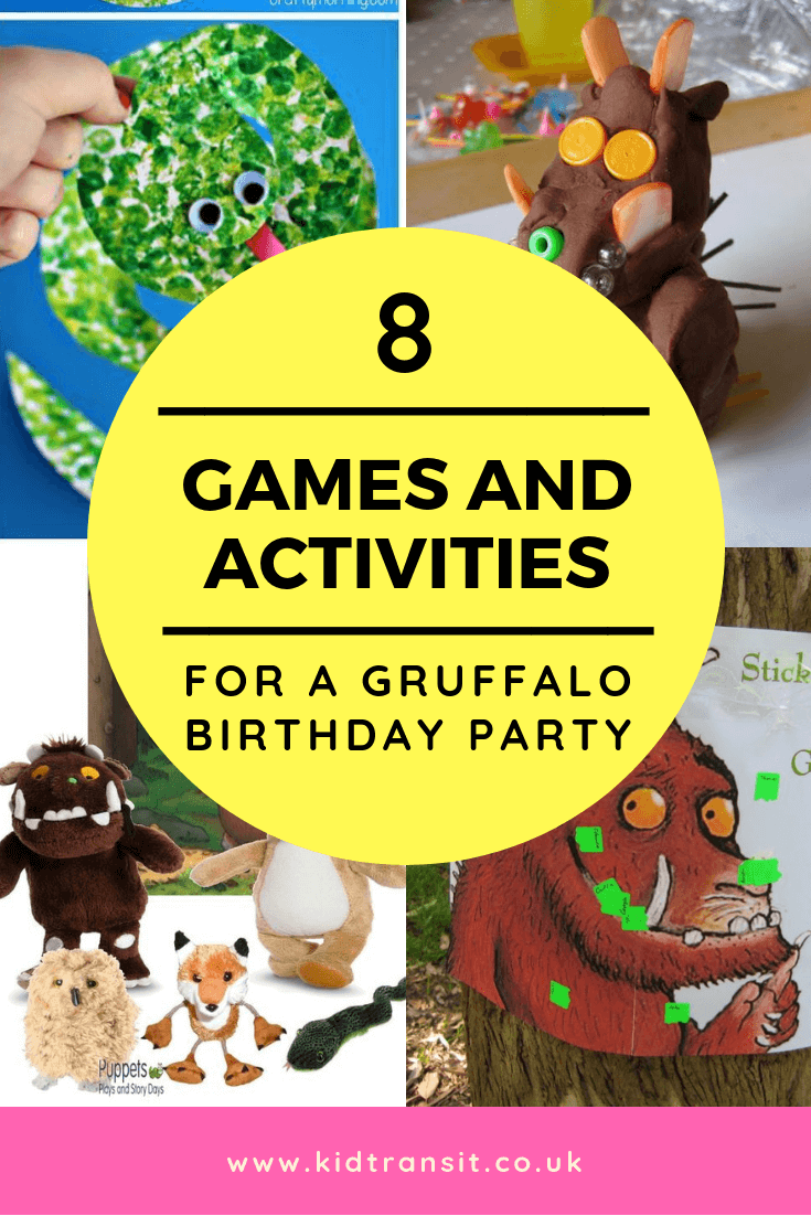 8 party games for a Gruffalo theme first birthday party