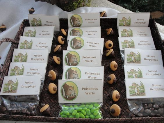 Gruffalo Themed First Birthday Party Food and Drink