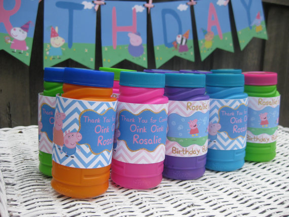 Peppa Pig First Birthday Party Favours