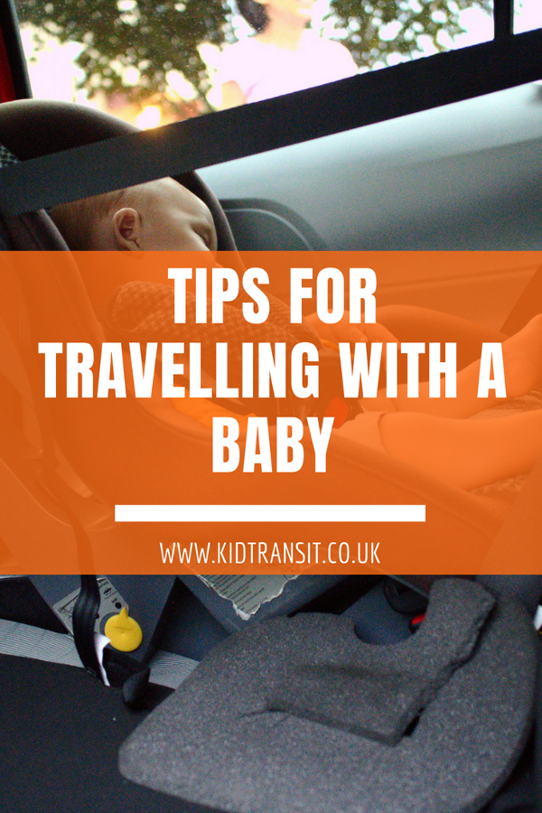 tips for travelling with a baby on a car journey. Products to make a road trip with a baby easier