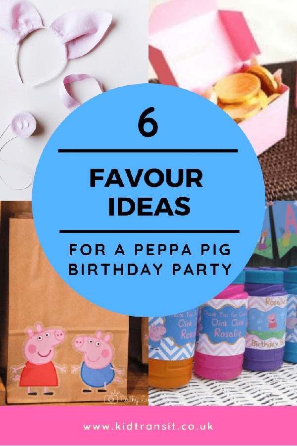 6 Peppa Pig party theme party favours for your child's birthday party