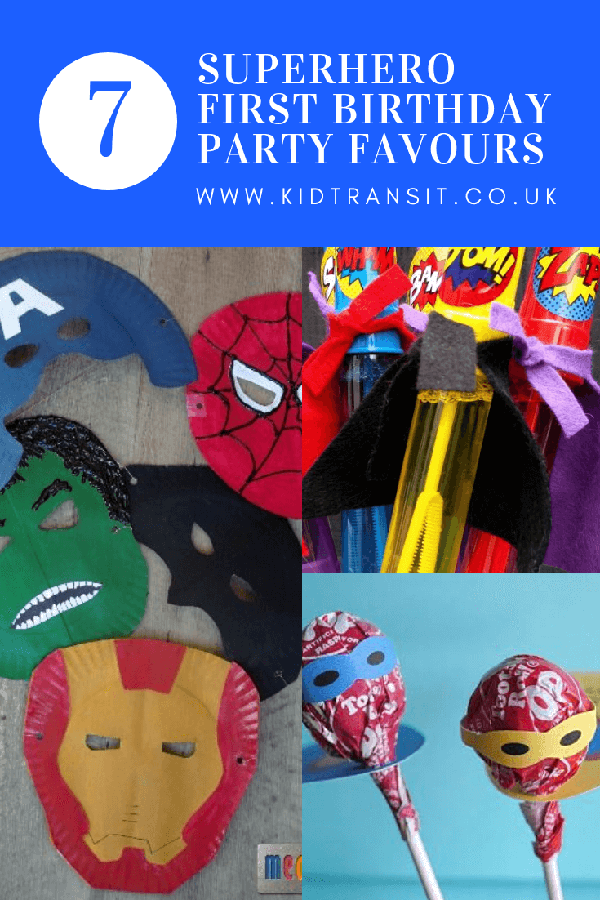 7 superhero theme party favours for a fantastic first birthday party