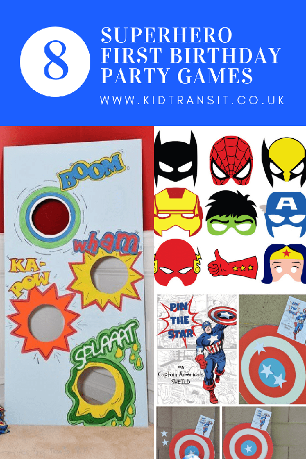 8 superhero theme party games for an awesome first birthday party