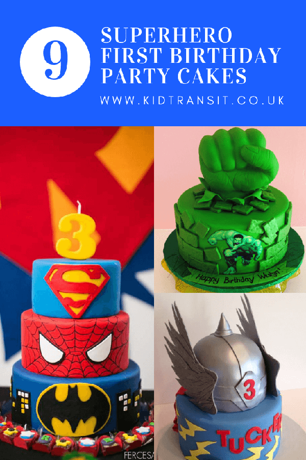 9 superhero theme party cakes for an awesome first birthday party