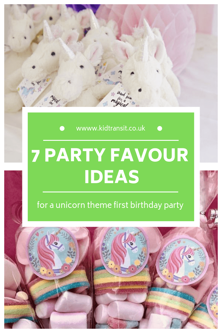 7 birthday party favours for a unicorn theme first birthday party