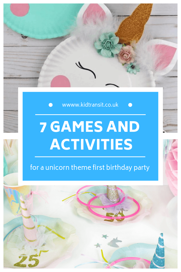 7 birthday party games for a unicorn theme first birthday party
