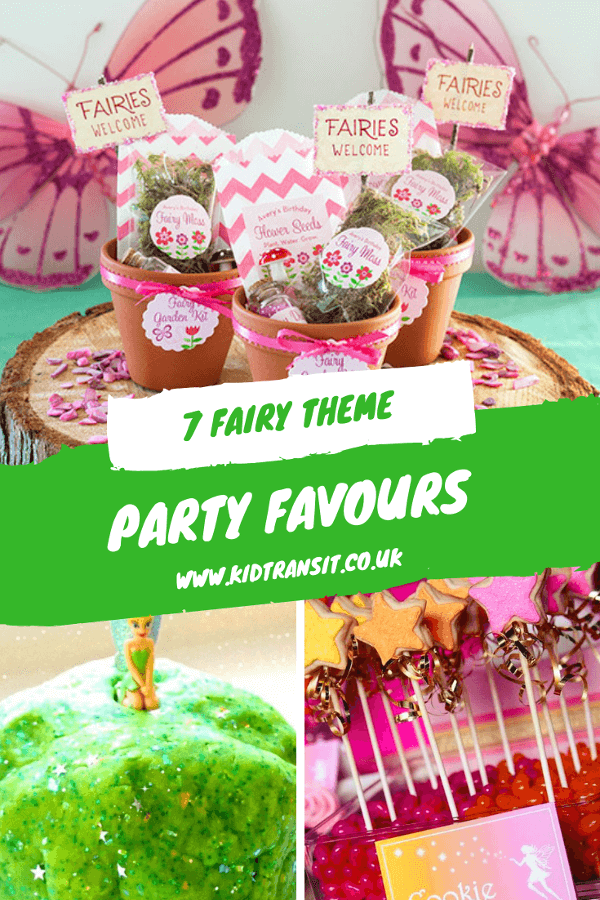 7 fairy party favours for a first birthday party. #fairyparty #partyfavours #partybags #kidsparty #firstbirthday