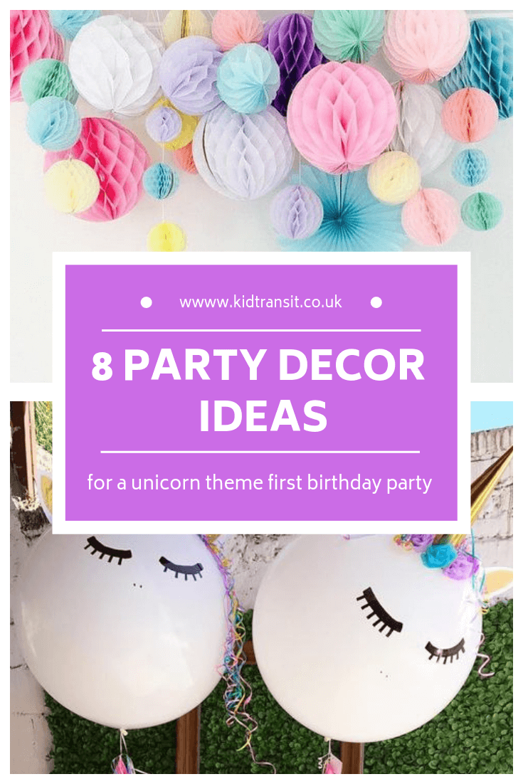 8 birthday party decor ideas for a unicorn theme first birthday party
