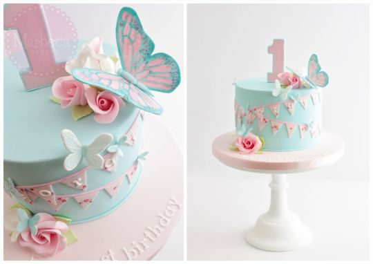 Butterfly First Birthday Cakes