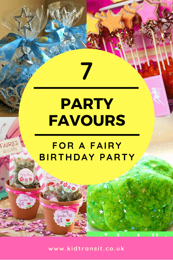Fabulous fairy birthday party favours ideas for a glittery first birthday party
