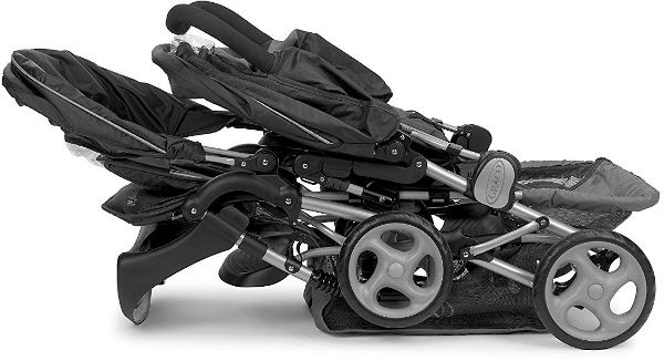 Graco Stadium Duo Double Pushchair folded position