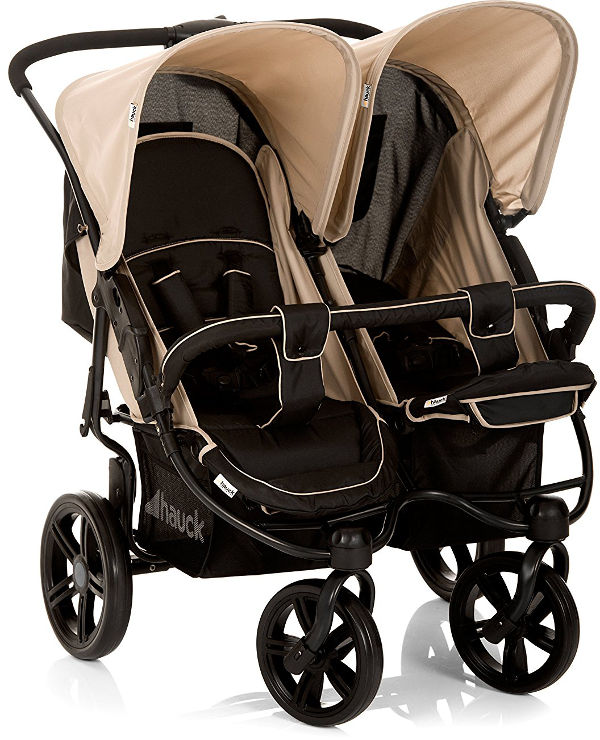 Hauck Roadster Duo Side by Side Double Pushchair lie flat seat