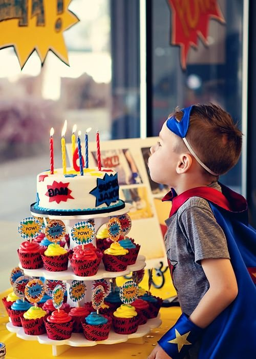 Superhero First Birthday Cakes