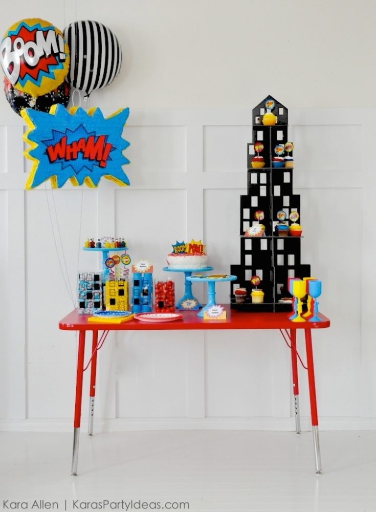 Superhero First Birthday Party Decor