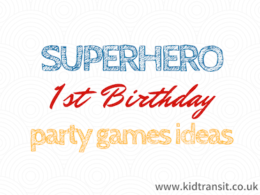 Superhero First Birthday Party Decor Ideas