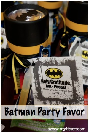 Superhero First Birthday Party Favours