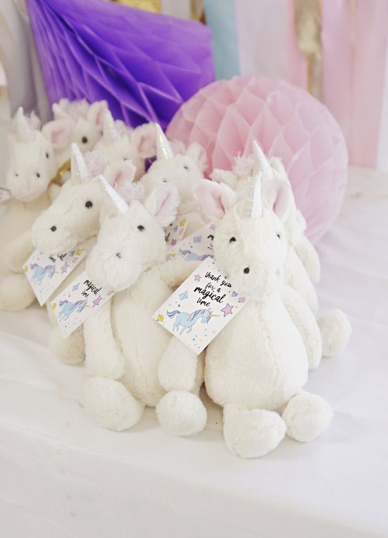 Unicorn First Birthday Party Favours