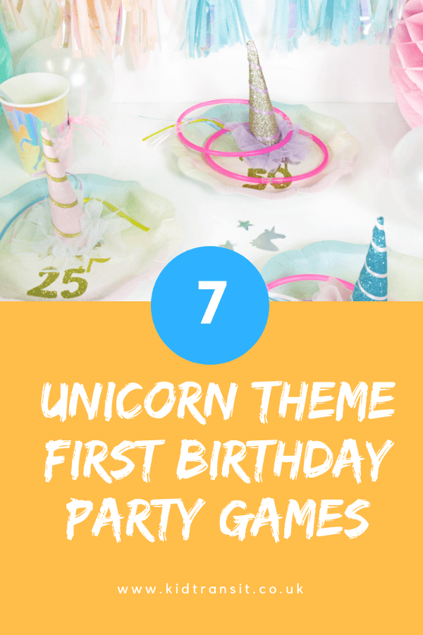 Unicorn birthday party games and activities for a first birthday party. #unicorn #birthdayparty #partygames #firstbirthday #unicornparty
