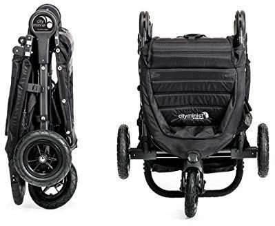Baby Jogger City Mini GT Stroller folded best 3 wheel stroller
