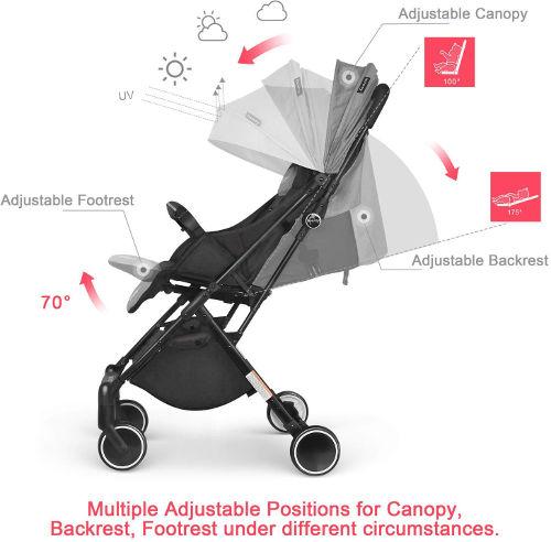 Besrey Stroller positions