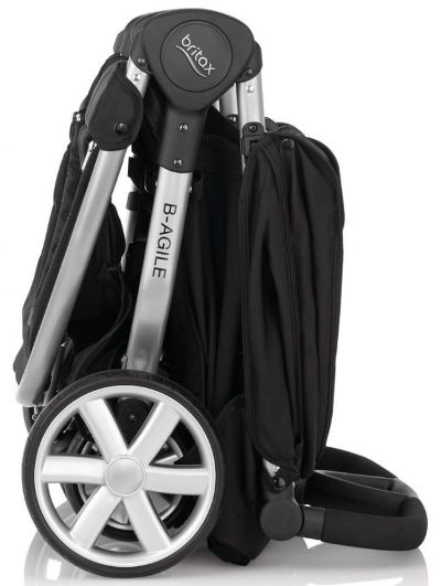 Britax B-Agile Double Pushchair folded