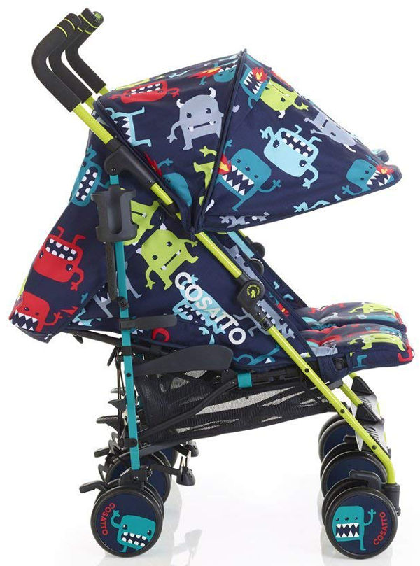 Cosatto Supa Dupa twin stroller side view