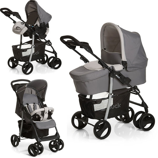 Hauck shopper SLX trio set pram positions