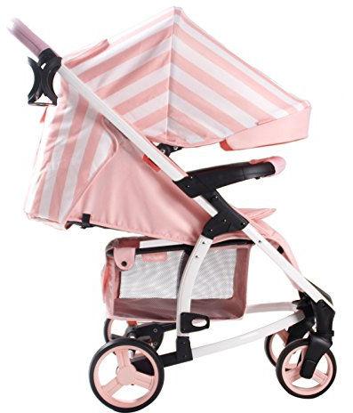My Babiie MB100 Billie Faiers Pink Sripes Pushchair hood
