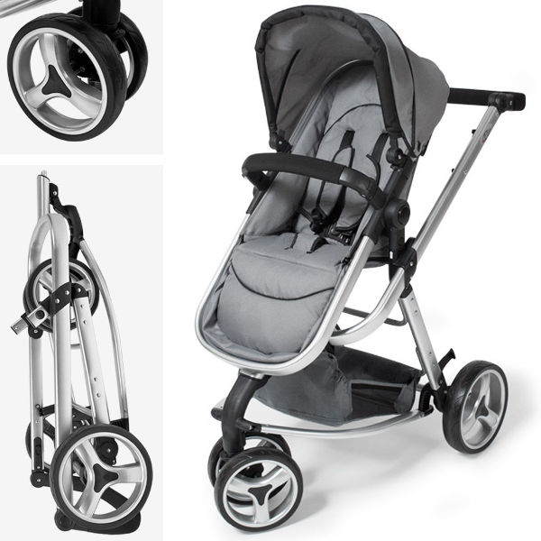 TecTake 3 in 1 stroller combi folded chassis