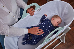 Tommee Tippee Sleepee Moses Basket in use