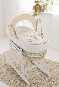 beary nice palm moses basket and rocking stand
