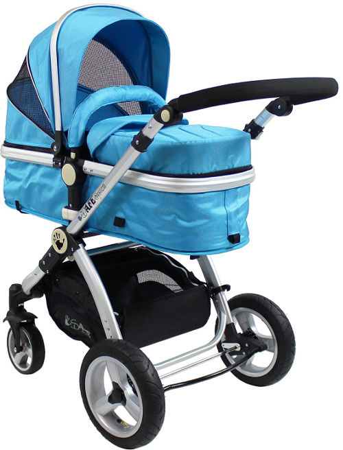 iSafe 2 in 1 Baby Pram System carrycot set up