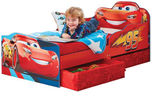Disney Cars Lightning McQueen toddler bed storage drawer