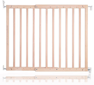 Safetots Chunky Wooden Screw Fit Stair Gate extended