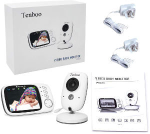 Tenboo baby monitor with camera box content