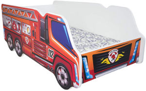 fire truck toddler bed side